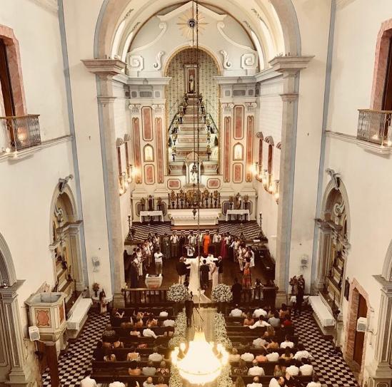 Milena e Pedro no casamento (Foto: Reprodução/Instagram)