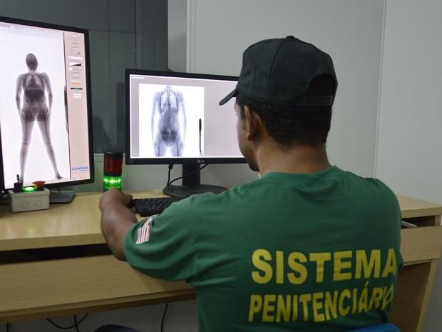 Desde a instalação do equipamento, 20 mulheres já foram flagradas tentando entrar com algo ilícito  (Foto: Divulgação/SSP-MA)