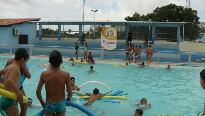 'Piscina Chico Noé' volta a funcionar no Amapá (Foto: Anne Karoline Santos/GE-AP)