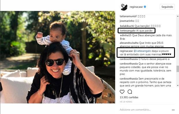 Regina Casé e Ivete Sangalo interagem no Instagram (Foto: Reprodução/Instagram)