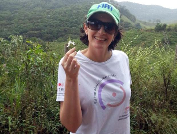 Cristiane Peçanha foi paciente da ACCCOM e participa da corrida II Corrida e Caminhada Farmax em Divinópolis (Foto: Cristiane Peçanha/Arquivo pessoal)
