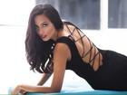 Dayanna Maia, filha de Latino, estreia como atriz na novela 'Rock Story'