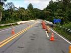 Após reforma, ponte na BR-282 em Rancho Queimado tem novo buraco