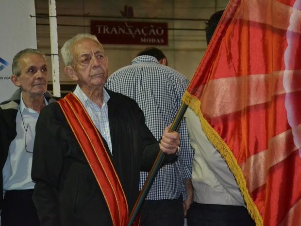 Miled é voluntário da Festa do Divino desde a década de 50 (Foto: Maiara Barbosa/ G1)