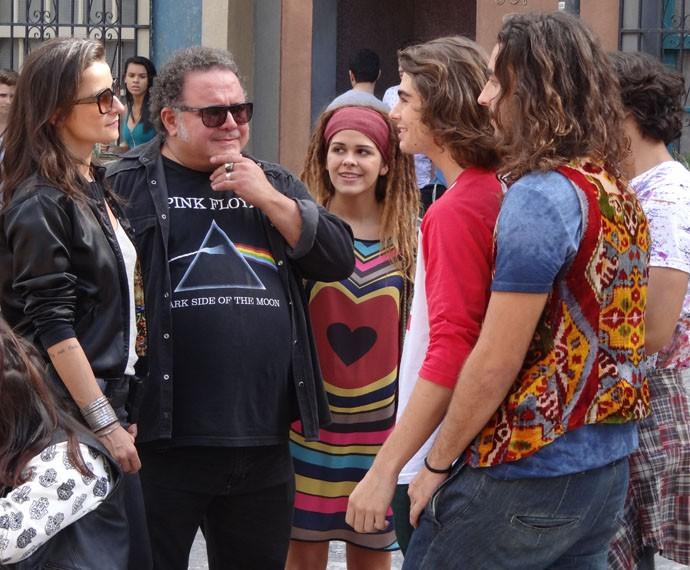 O guitarrista lembra da profecia de cigana (Foto: Taís Moreno/Gshow)