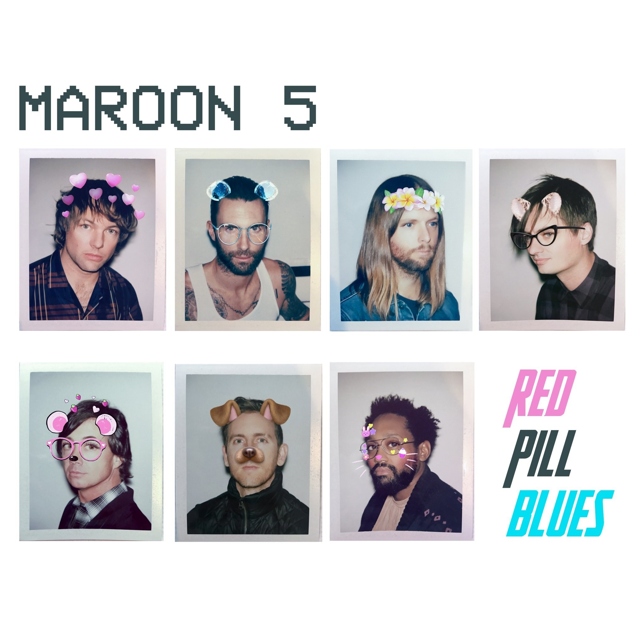 A capa do novo disco do Maroon 5, 'Red Pill Blus' (Foto: Divulgao)