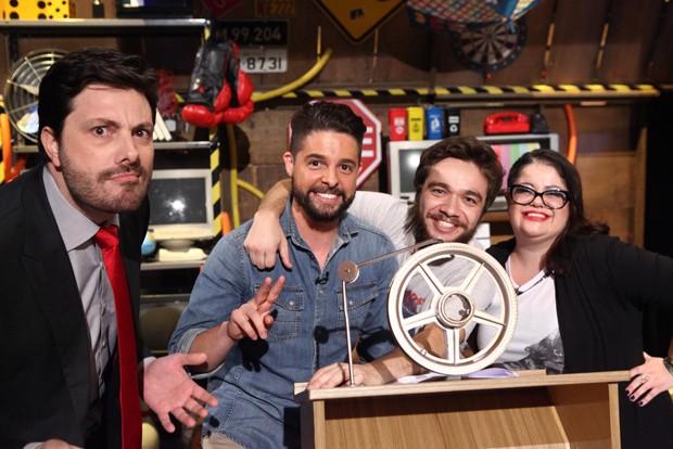 Danilo, Diego, Leonardo e Jussara (Foto: Leonardo Nones/SBT)