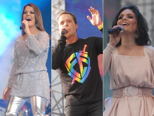 Diante do Trono, Aline Barros e André Valadão se apresentam no Festival Promessas (Foto: Rede Globo/Zé Paulo Cardeal)
