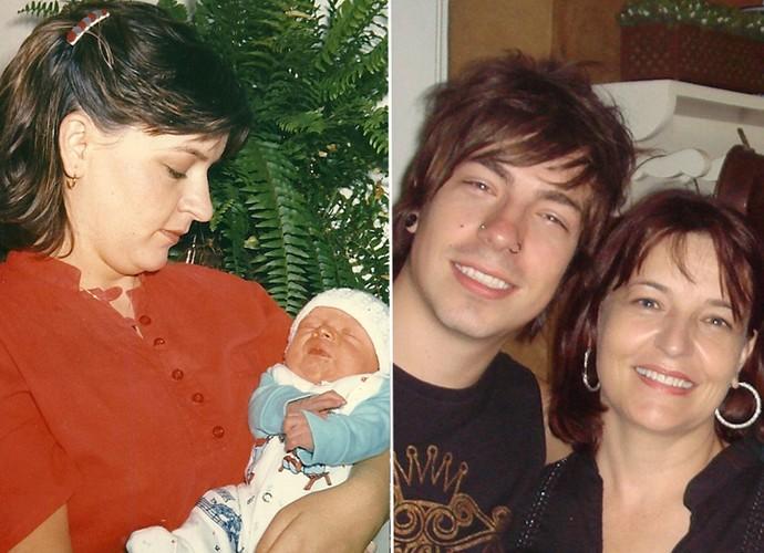 Di com 5 dias de vida na fota à esquerda e com 22 anos na direita (Foto: Arquivo Pessoal)