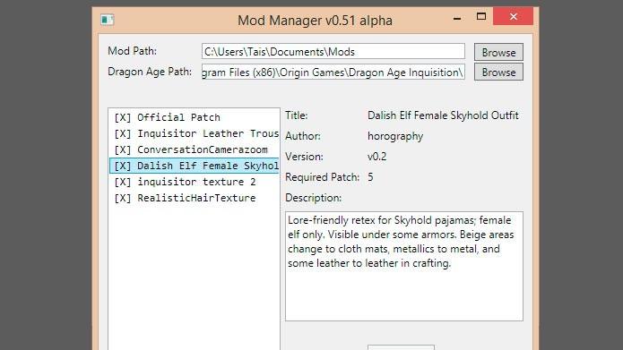 Selecione a pasta do game e dos mods no programa (Foto: Reprodução/Tais Carvalho)