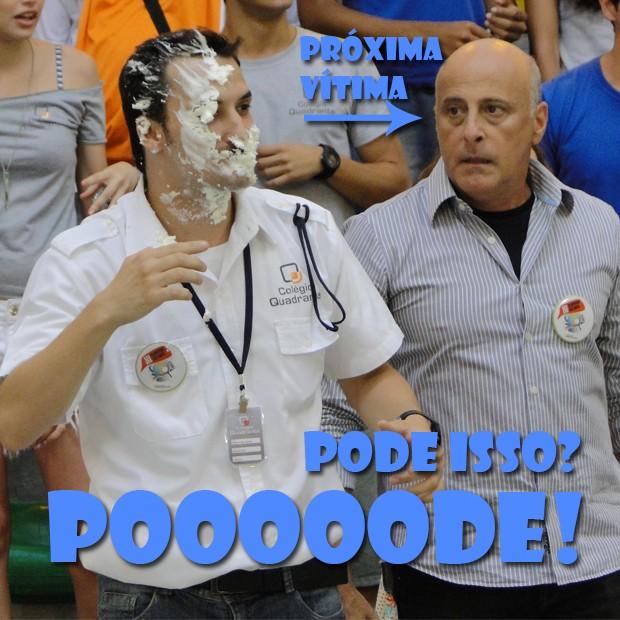 Robson leva torta na cara (Foto: Malhação / TV Globo)