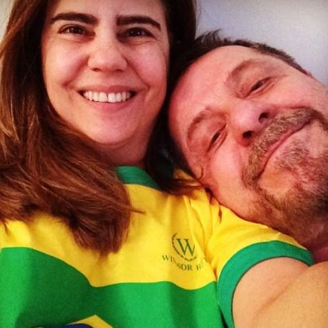 Mayara com o namorado, Flávio Galvão (Foto: Reprodução)