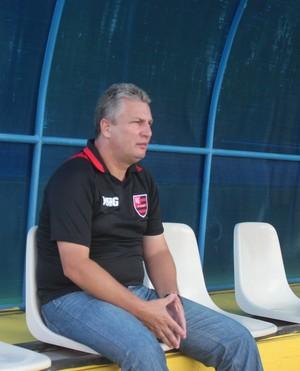 Daniel Frasson, técnico do Flamengo-PI (Foto: Abdias Bideh/GloboEsporte.com)