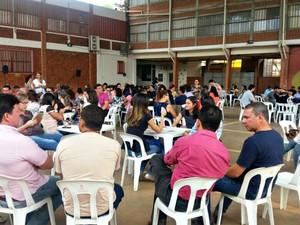 Servidores do Poder Judiciário do Acre entraram em greve nesta segunda-feira (10) (Foto: Iryá Rodrigues/G1)