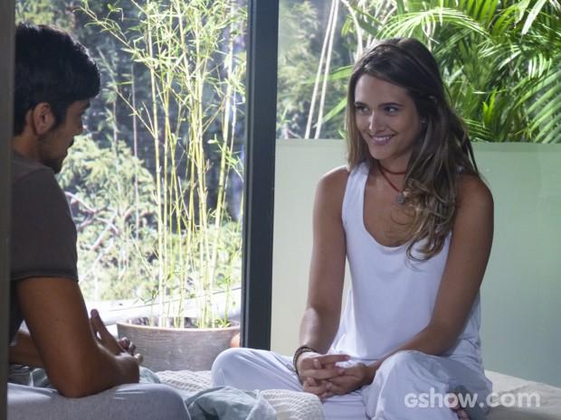 Lili pede mais um tempo para Marlon (Foto: Além do Horizonte/TV Globo)