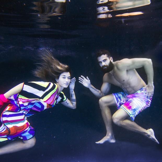 Gabriela Pugliesi e Ricardo Barbato - cores debaixo d'água (Foto: WePick)