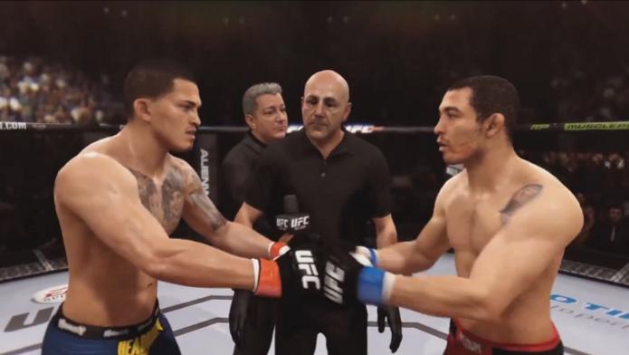 EA Sports UFC ganhou vídeo que simula a luta entre Aldo e Pettis. (Foto: Divulgação)