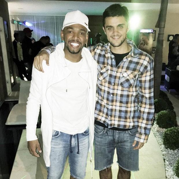 Nego do Borel e Felipe Simas em festa no Rio (Foto: Instagram/ Reprodução)