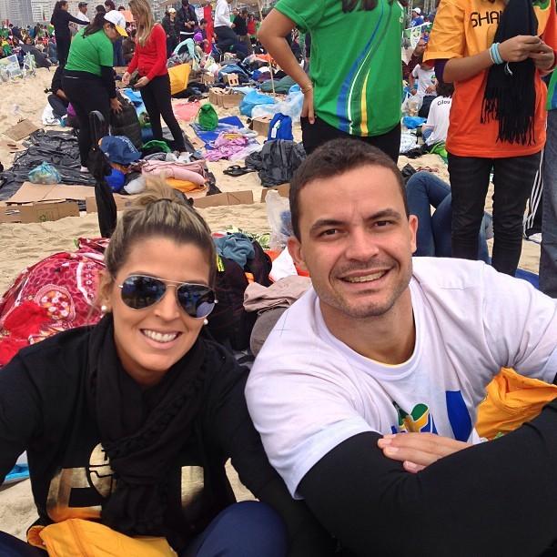 mari paraiba riad jornada mundial da juventude volei copacabana (Foto: Reprodução/Instagram)