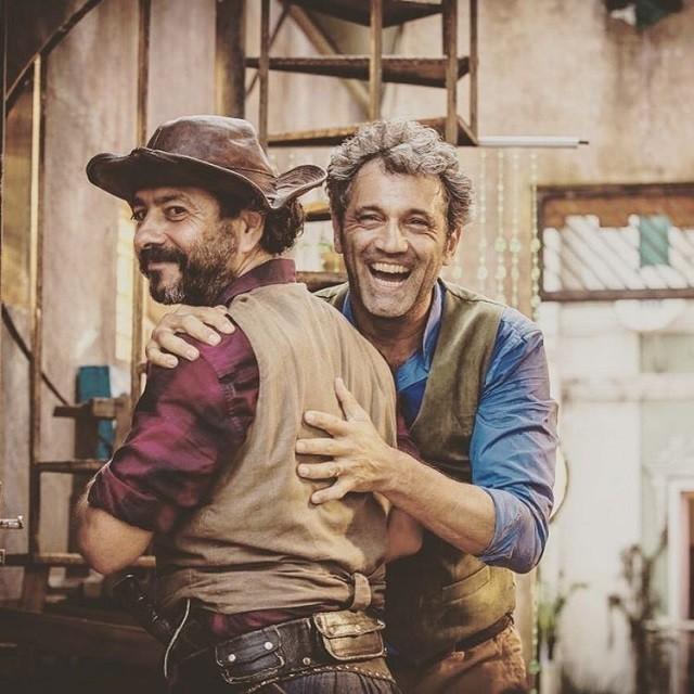 Marcos Palmeira e Domingos Montagner (Foto: Reprodução/Instagram)