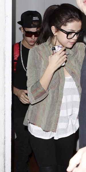 Justin Bieber e Selena Gomez (Foto: Maciel-RS-Juliano-Jack/X17online.com)