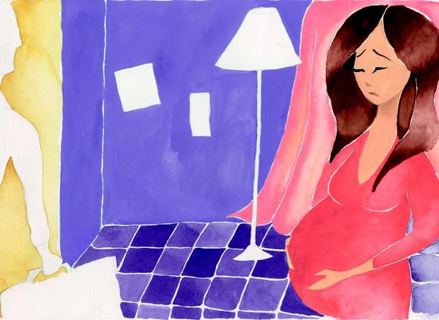 Divórcio na gravidez (Foto: Naíma Saleh)