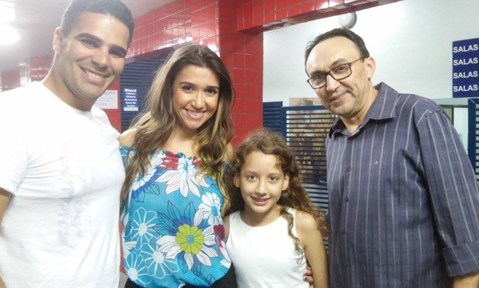 Boa da Semana: A boa para Geovanna foi encontrar com Simone Castro, Helder e Dirceu Andrade (Foto: Arquivo pessoal)