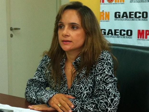 Patrícia Antunes Martins, coordenadora do Grupo de Atuação Especial de Combate ao Crime Organizado (Gaeco) do RN (Foto: Fernanda Zauli/G1)