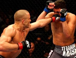 UFC 158 Georges St-Pierre e Nick Diaz (Foto: Agência Getty Images)