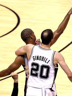 Gary Neal NBA final San Atonio Miami jogo 3 comemoração (Foto: Getty Images)