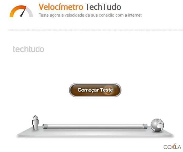 Velocímetro do TechTudo deve ser usado para medir a velocidade instantânea da sua conexão à Internet (Foto: Reprodução/TechTudo)