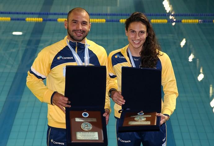 Marina Zablith e Felipe Perrone - polo aquático (Foto: Satiro Sodré/CBDA)