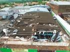Temporal provoca destruição na cidade de Costa Rica - MS