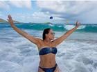 Susana Vieira volta a ostentar corpão em foto de biquíni no Caribe