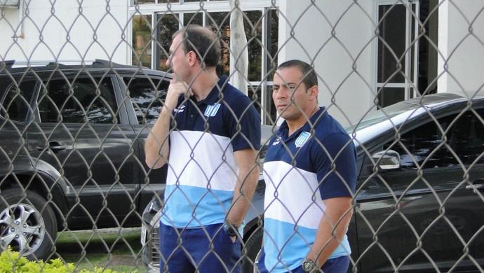 Integrantes da delegação do Racing se hospedaram na Toca da Raposa II (Foto: Gabriel Duarte)