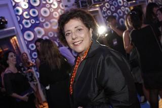Leda Nagle na festa de lançamento de 'Salve Jorge' (Foto: Isac Luz / EGO)