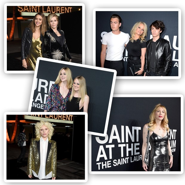 Celebridades no evento Saint Laurent at The Palladium (Foto: Getty Images)