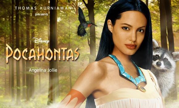 Angelina Jolie como Pocahontas (Foto: Thomas Kurniawan)