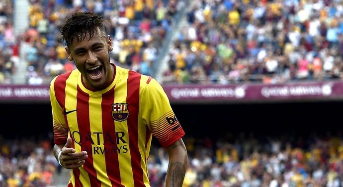 Neymar barcelona gol athletic de Bilbao (Foto: Agência AFP)