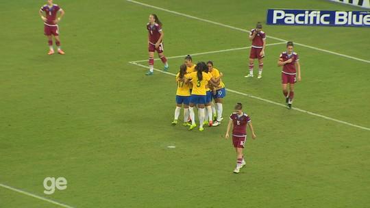 Brasil goleia Rússia por 4 a 0 e garante vaga na final do Torneio de Manaus