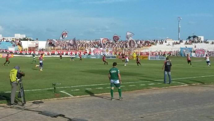 Guarany de Sobral x Fortaleza Campeonato Cearense Junco (Foto: Caio Ricard/TV Verdes Mares)