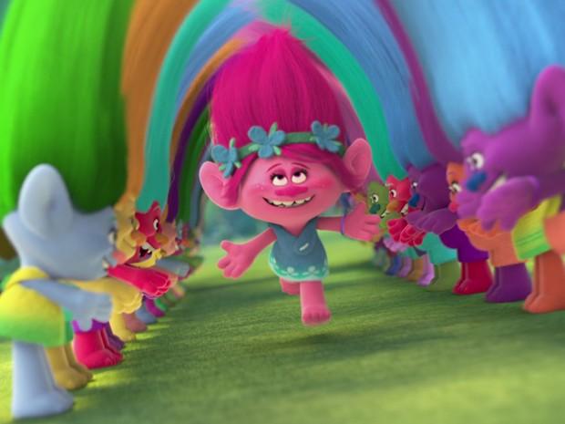 Cena da animação 'Trolls' (Foto: Divulgação)