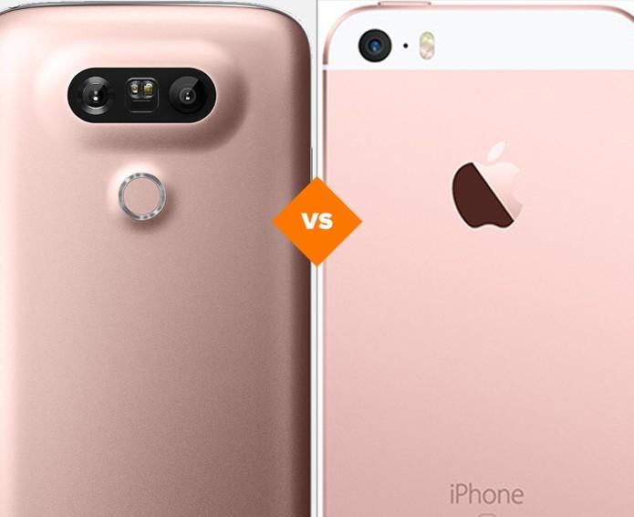 """LG G5 SE ou iPhone SE: veja qual """"Special Edition"""" tem melhor ficha técnica (Foto: Arte/TechTudo)"""