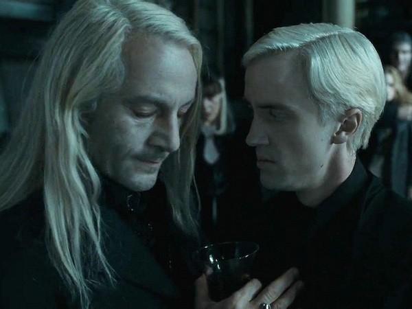 Jason Isaacs e Tom Felton em cena de 'Harry Potter' (Foto: Reprodução)