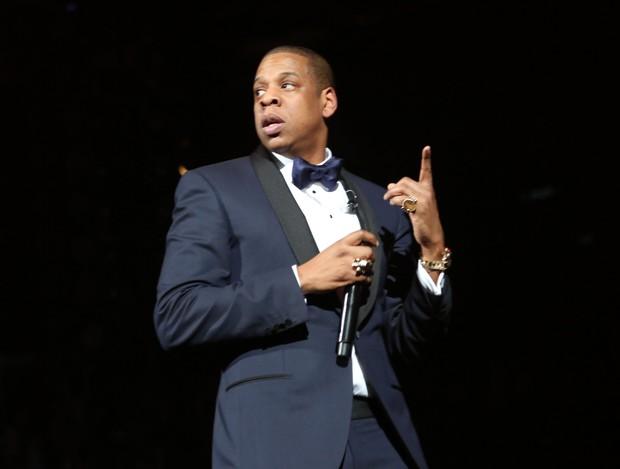 Jay-Z se apresenta em festa de réveillon em Nova York, nos Estados Unidos (Foto: Johnny Nunez/ Getty Images/ Agência)