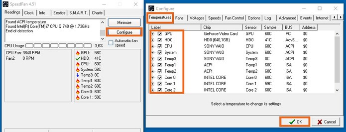 Configure os dados que deseja visualizar na análise do PC (Foto: Reprodução/Barbara Mannara)