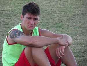 Tiago Adan, atacante do América-RN (Foto: Tiago Menezes)
