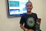 Robertinho comemora conquista de etapa do Brasileiro de Surfe amador