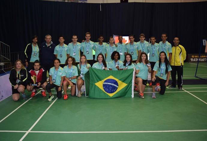 Brasil prata pan-americano badminton (Foto: Divulgação)