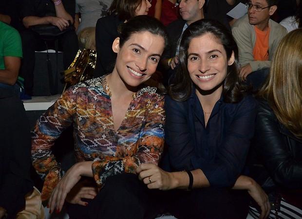 Renata Vasconcellos (à esq.) e Lanza Mazza (à dir.) (Foto: Ag News)
